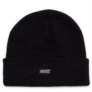 MN07 STOCK EMBROIDERY BEANIE BLACK