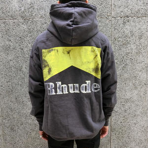 RHUDE    CIGARETTE HOODIE  BLACK