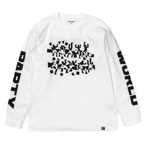 CARHARTT WIP WORLD PARTY LS TEE WHITE