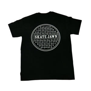 SKATE JAWN SEWER TEE BLACK