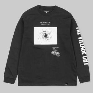 CARHARTT WIP L/S TVC SPACE T-SHIRT BLACK