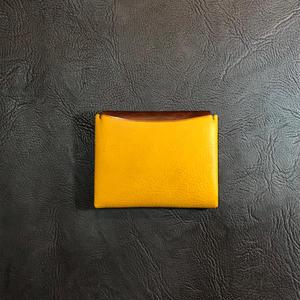 Dew-004二つ折財布(カードケース)黄