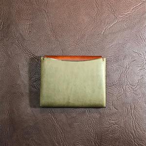 Dew-004二つ折財布(カードケース)緑