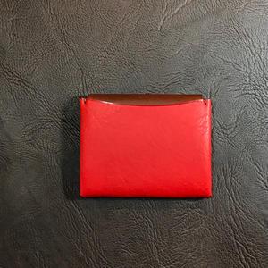 Dew-004二つ折財布(カードケース)赤
