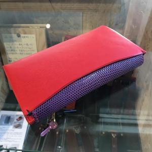【Dew-002】ミネルバボックス 赤 × リザザード 紫