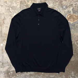 BROOKS BROTHERS Silk × Cotton Knit Polo Shirt