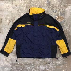 Columbia Nylon Jacket NAVY× BLACK×YELLOW