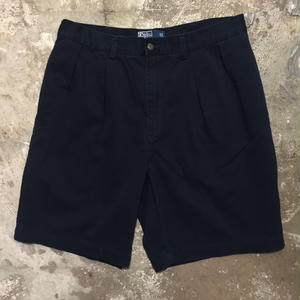 Polo Ralph Lauren Cotton Two Tuck Shorts D.NAVY W: 34