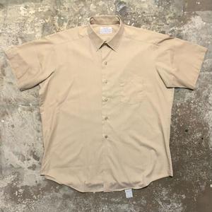 70's Creighton PERMA-PREST S/S Shirts BEIGE