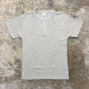 90's OLD FASHION Thermal Henley Neck Tee(Dead Stok)