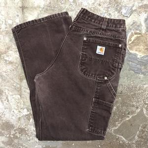 80's~ Carhartt Double Knee Painter Pants DARK BROWN  W : 34