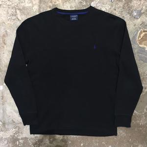 Polo Ralph Lauren L/S Waffle T-Shirt BLACK×BLUE