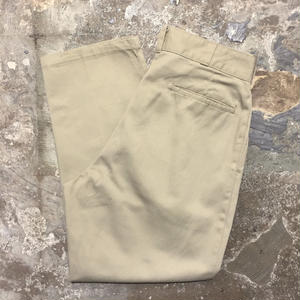 80's~ Dickies 2tuck Work Pants KHAKI