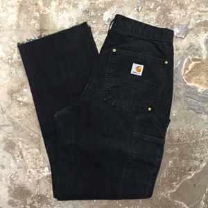 90's~ Carhartt Double Knee Painter Pants BLACK  W : 31