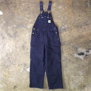 90's Carhartt Quilt Lined Overall NAVY