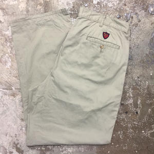 90's Polo Ralph Lauren Two Tuck Chino Pants L.OLIVE W : 34