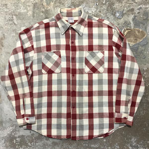 70's BIG MAC Heavy Flannel Shirt RED×GREY×WHITE