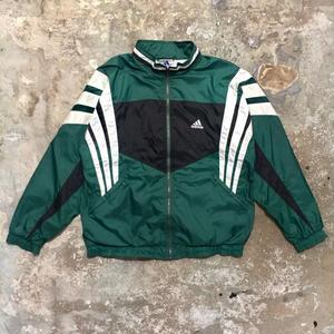 90's adidas Nylon Jacket GREEN×BLACK