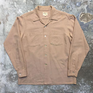 ~60's Jano-Downs Co Wool Cotton Open Collar Shirt