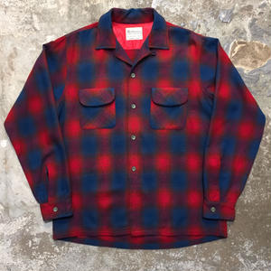 ~60's Woolverine Wool Board Shirt RED×BLUE