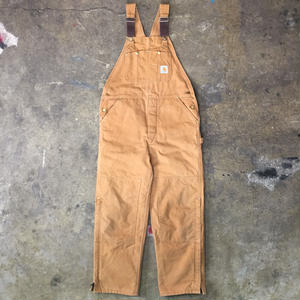 80's Carhartt Quilt Lined Overall BROWN