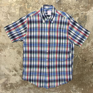Brooks Brothers Madras Check Shirt BLUE