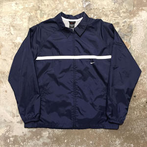 90's~ NIKE NylonCoach Jacket NAVY×WHITE