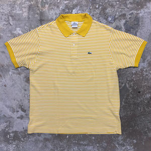 LACOSTE Striped Polo Shirt  YELLOW