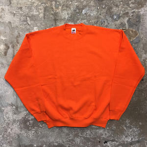90's FRUIT OF THE LOOM Plain Sweatshirt ORANGE
