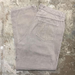 Great Land 5-Pocket Corduroy Pants GREY W : 33