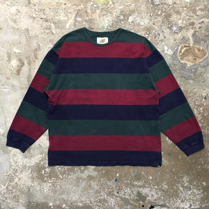 90's  FIELD GEAR Striped L/S Tee