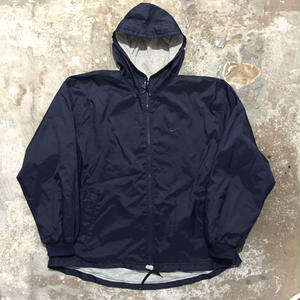 90's NIKE Hooded Nylon Jacket NAVY