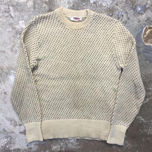 80's PASH! Birds Eye Wool Sweater