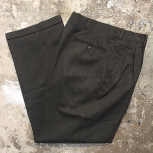70's~ Unknown Wool Blend Two Tuck Slacks