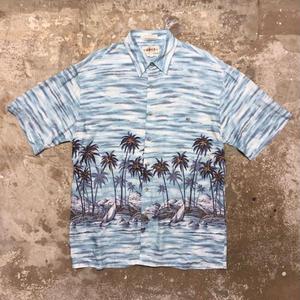 CAMPIA MODA Rayon Aloha Shirt L.BLUE