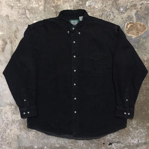 ST JOHN'S BAY Black Denim B.D Shirt