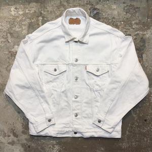 80's Levi's 70507 White Denim Jacket