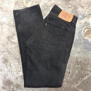 90's Levi's 501 Denim Pants BLACK W32
