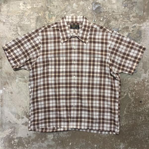 70's TOWNCRAFT Plaid Box Shirt