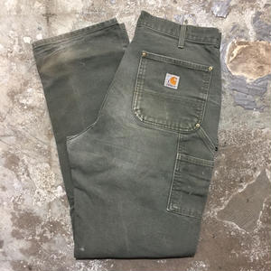 90's~ Carhartt Double Knee Painter Pants GREEN  W : 33