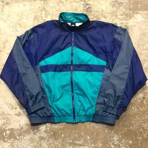 90's NIKE Nylon Jacket NAVY×C.GREY×GREEN