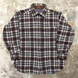 70's PENDLETON Wool Shirt BLUE×BLACK×RED