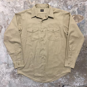 70's Lee CHETOPA L/S Work Shirt KHAKI
