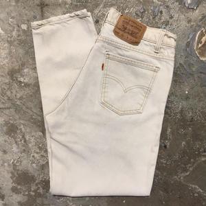 90's Levi's 550 Color Denim Pants L.BEIGE W : 34