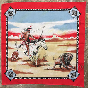 80's Indian Bandana RED