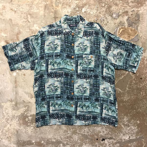 puritan Rayon Aloha Shirt BLUE