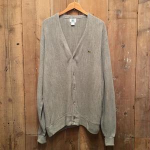 80's IZOD LACOSTE Acrylic Knit Cardigan GRAY SIZE : XL