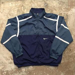 90's NIKE Nylon Jacket NAVY×B.GREY×WHITE