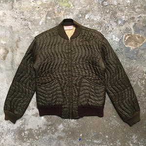 60's SAMCO Quilted Nylon Jacket BROWN