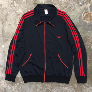 80's adidas Track Top BLACK×RED